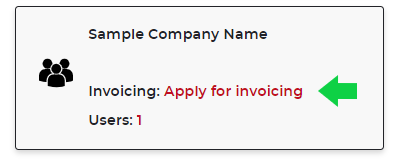 Apply for Invoicing